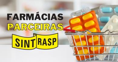 Farmácias | Sintrasp mantém convênio com diversas drogarias da região. Confira todas!